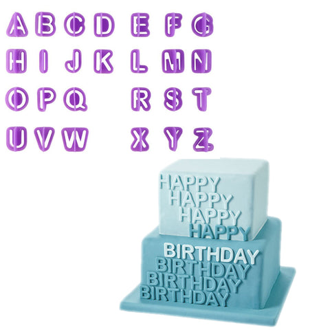 40 piece Alphabet, number and symbol fondant and cake mold / cutter - MY CAKE PLACE