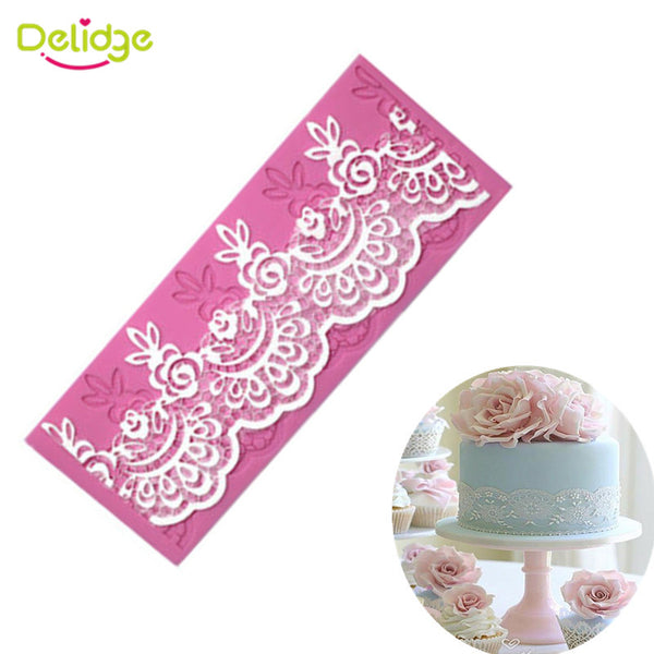 Silicone scallop Lace Mold Cake Decorating Fondant sugarcraft mold - MY CAKE PLACE