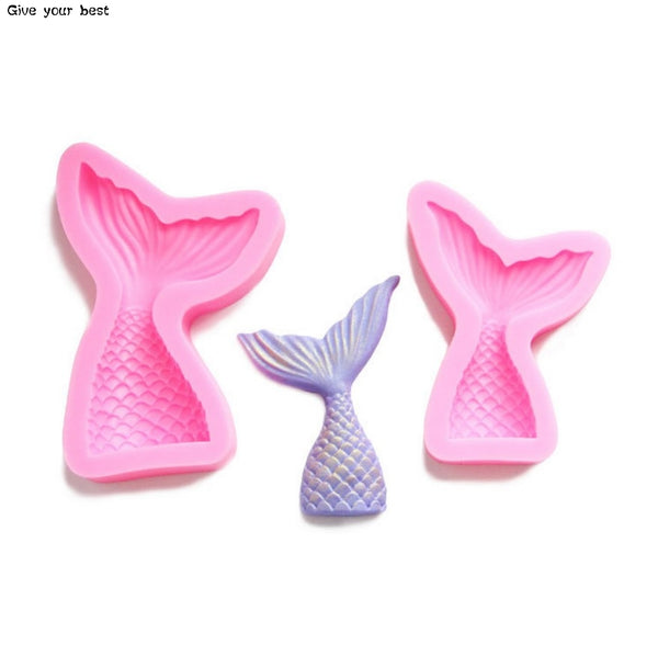 Silicone Mermaid Tail Fondant Gum Paste sugarcraft Chocolate clay Molds - MY CAKE PLACE