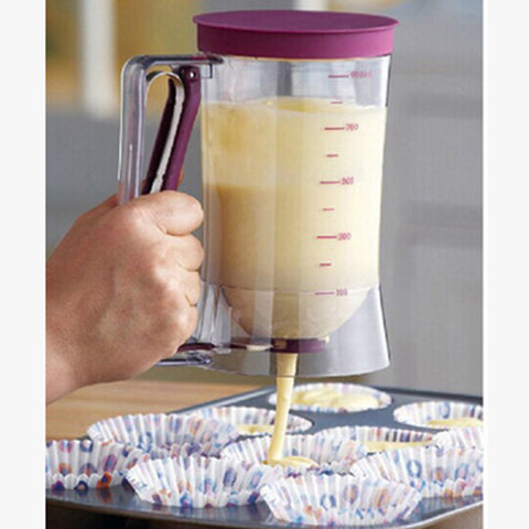 Pancake & Cupcake Batter Dispenser - Perfect Baking Tool for Cupcakes, Waffles, Muffin Mix, Crepes, Cake or Any Baked Goods