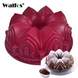 Silicone Cake Mold 3D  Big Crown Castle Mould