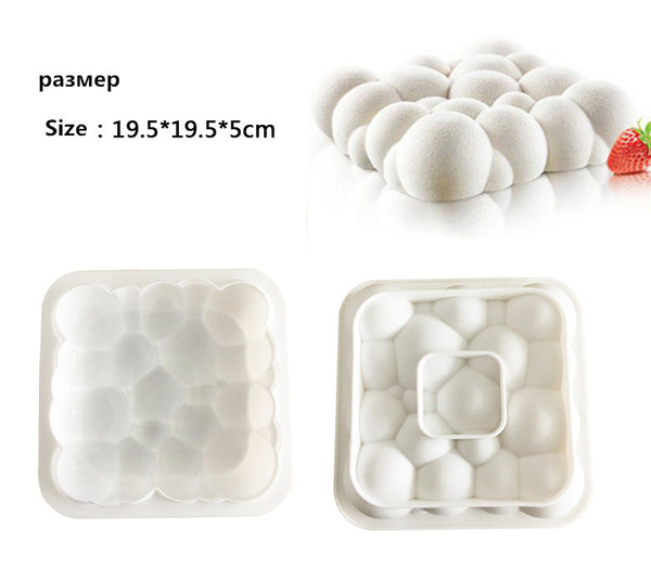 Puffy Cloud Design Silicone Cake Mold 3D - MY CAKE PLACE