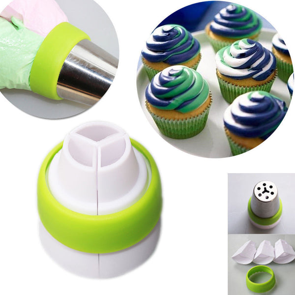 3-Color Icing Piping Bag Russian Nozzle - MY CAKE PLACE