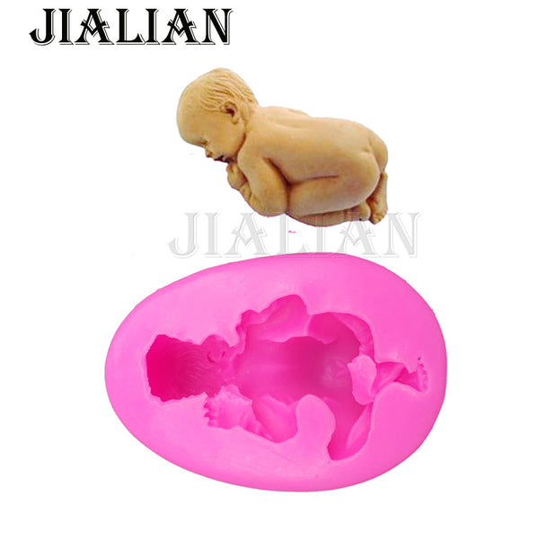 3D  silicone sleeping baby fondant chocolate sugarcraft clay mold - MY CAKE PLACE