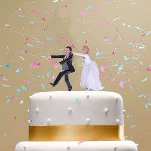 Synthetic Resin Bride & Groom  funny Wedding Cake Topper - MY CAKE PLACE