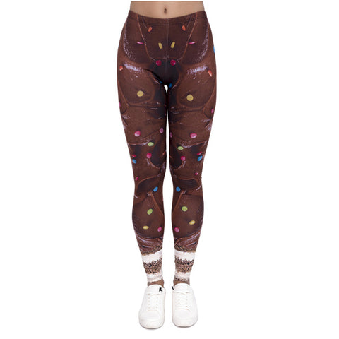 Chocolate frosting ankle length slimming leggings - MY CAKE PLACE
