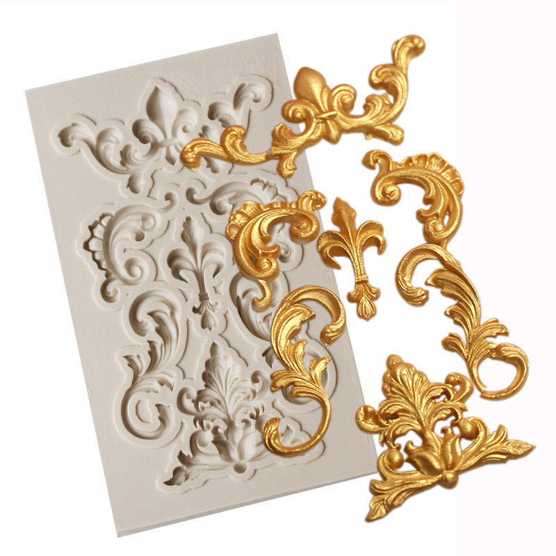 silicone filigree embellishment mold for fondant and cake decorating - MY CAKE PLACE