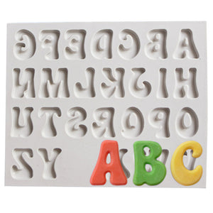 Silicone letter and numbers cake mold for cake decorating, fondant and clay - MY CAKE PLACE