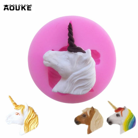 Silicone unicorn head fondant sugarcraft chocolate mold - MY CAKE PLACE