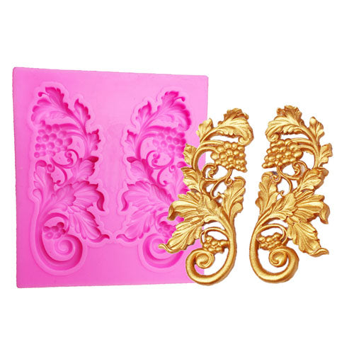 filigree lace and angel wing decorative silicone molds for cake decorating fondant and clay - MY CAKE PLACE