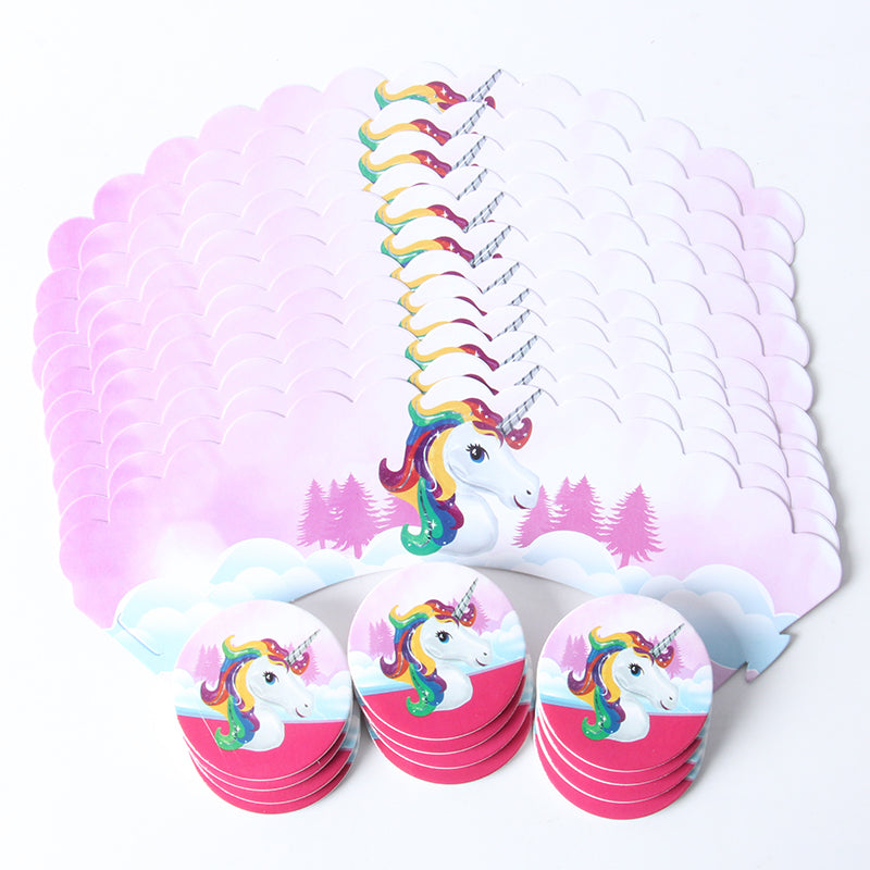 Unicorn Cupcake Wrappers  and Toppers (12 wraps+12 topper) - MY CAKE PLACE
