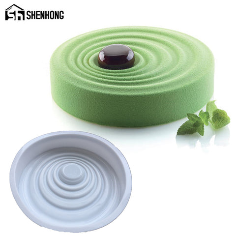 Spiral Cake Mold Ripple 3D silicone