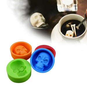 Silicone Skull  Fondant Cake Chocolate sugarcraft gumpaste clay mold - MY CAKE PLACE