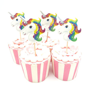 24 piece Unicorn Cupcake pick Topper - MY CAKE PLACE
