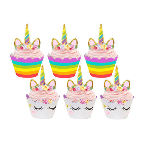 24 piece unicorn cupcake topper set - MY CAKE PLACE