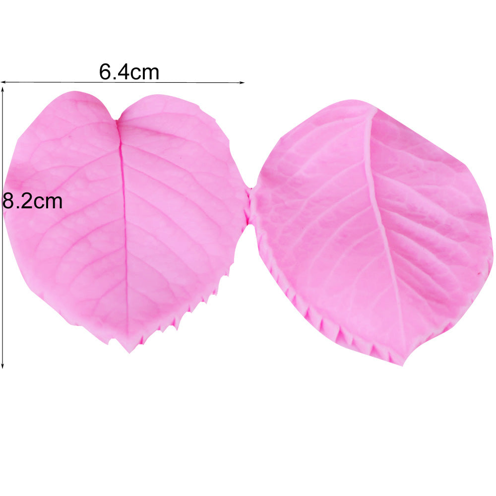 8 piece silicone peony flower petal and leaf mold set for cake decorating, fondant and clay - MY CAKE PLACE