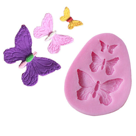 Silicone Butterfly fondant sugarcraft gum paste chocolate clay mold - MY CAKE PLACE