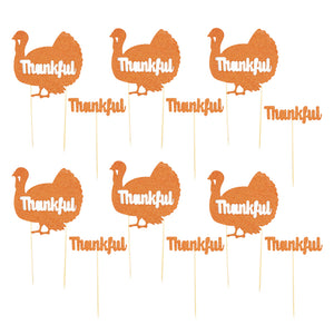 Thanksgiving Thankful Turkey cake toppers - MY CAKE PLACE