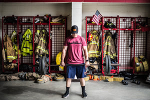 HRT High Rise Tactical Skyline Tee shirt firefighters lifting firehouse crossfit