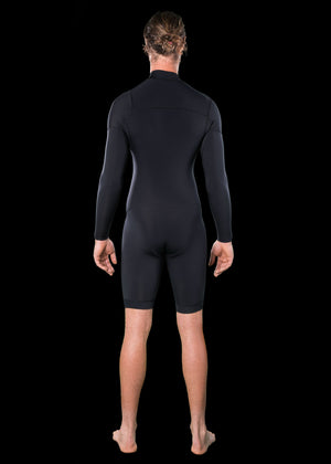 Mens 2.5mm Premium Essential Long Arm Chest Zip Spring Wetsuit
