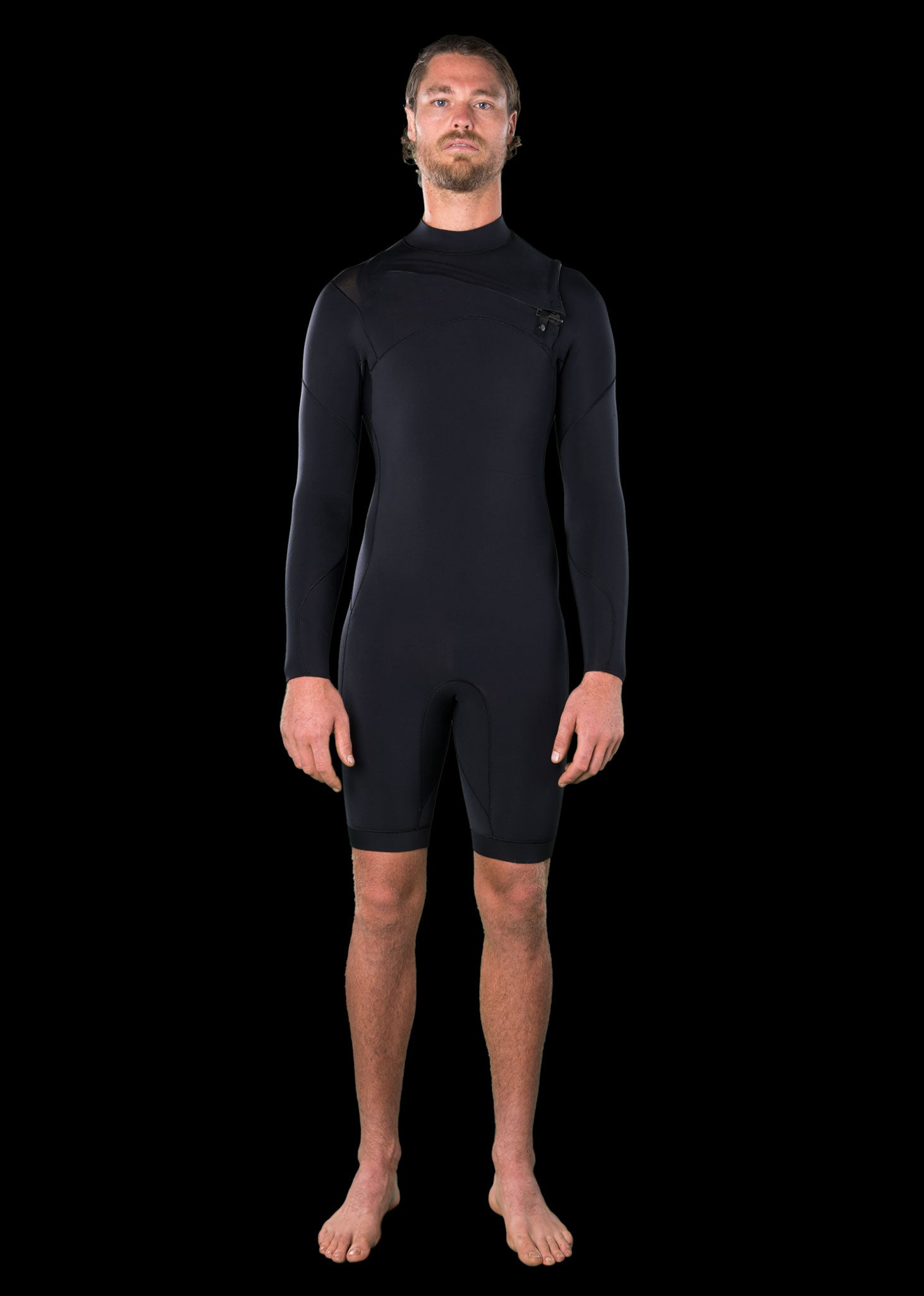 Mens 2.5mm Premium Long Arm Chest Zip Spring Wetsuit