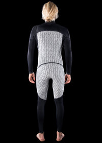 Mens 4/3 Fast Dry Chest Zip Wetsuit