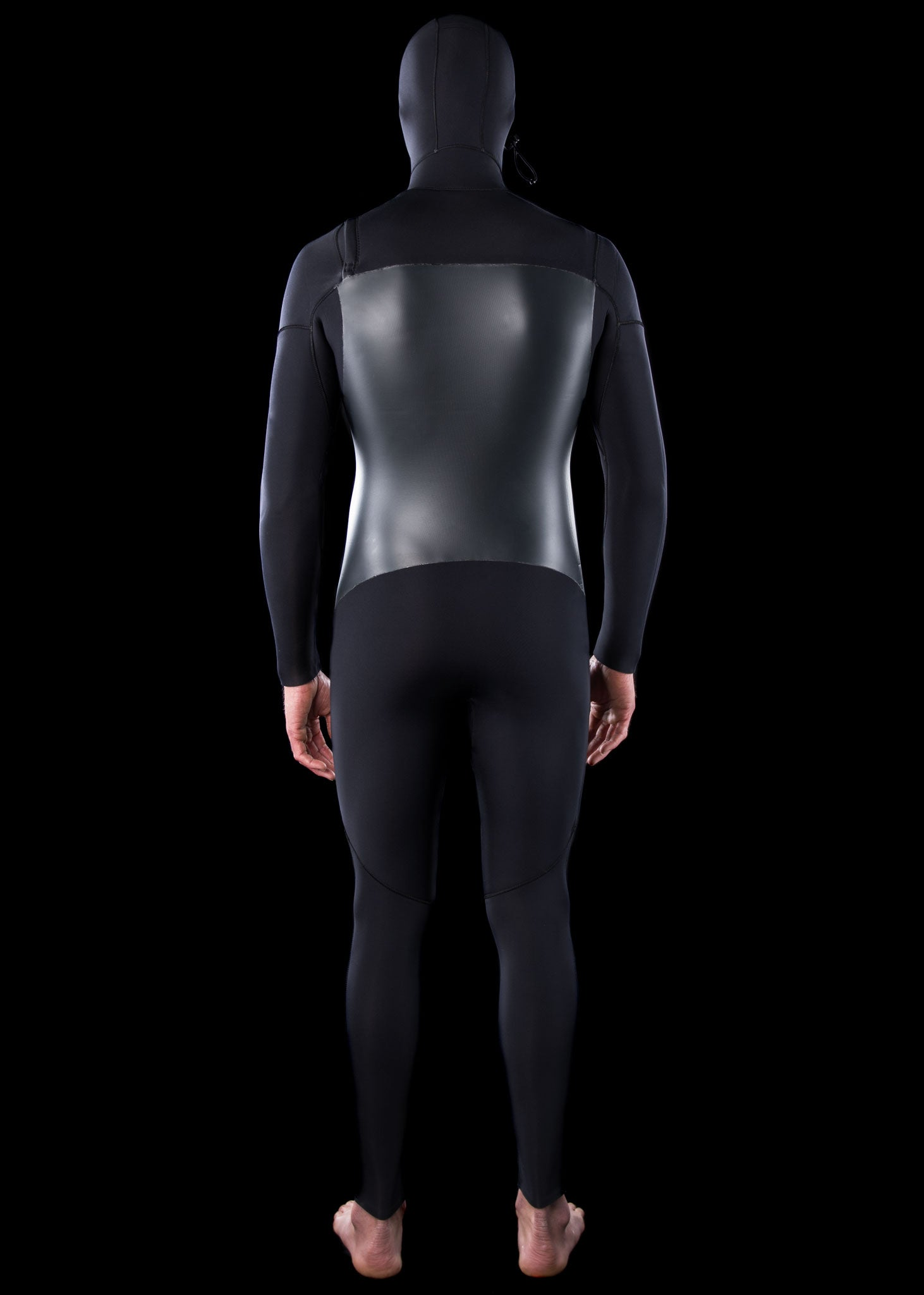 Mens 5/4 Premium Chest Zip Hooded Wetsuit
