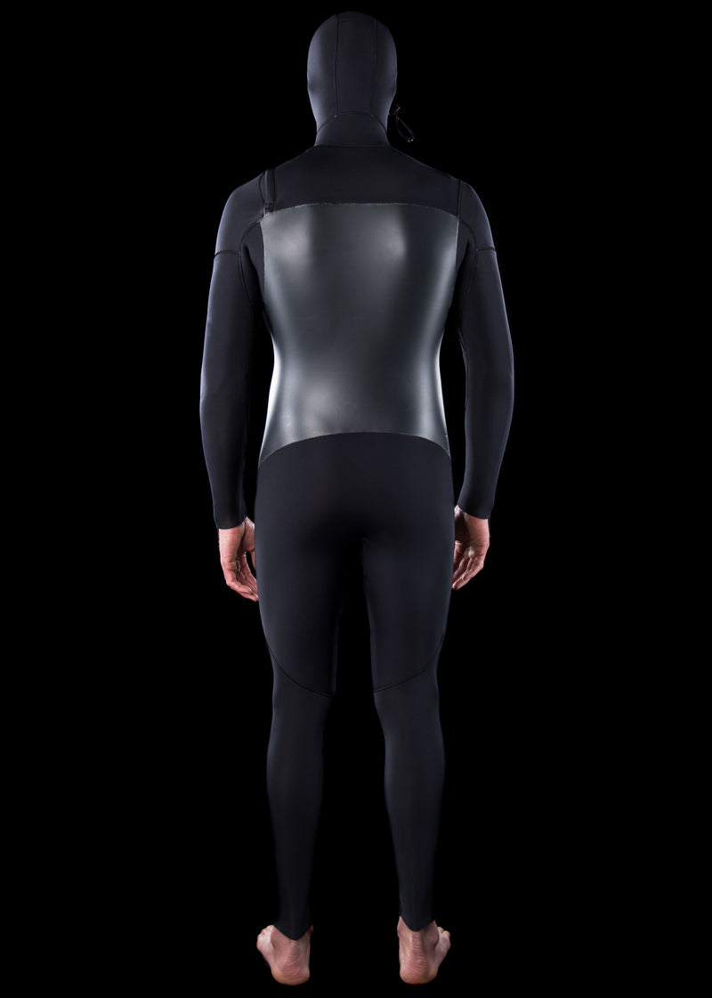Mens 5/4 Premium Thermal Chest Zip Hooded Wetsuit