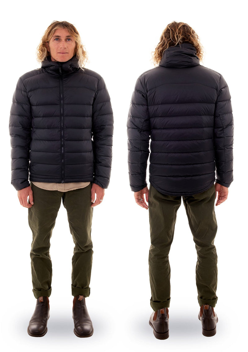 needessentials 750 down jacket puffer winter non branded black