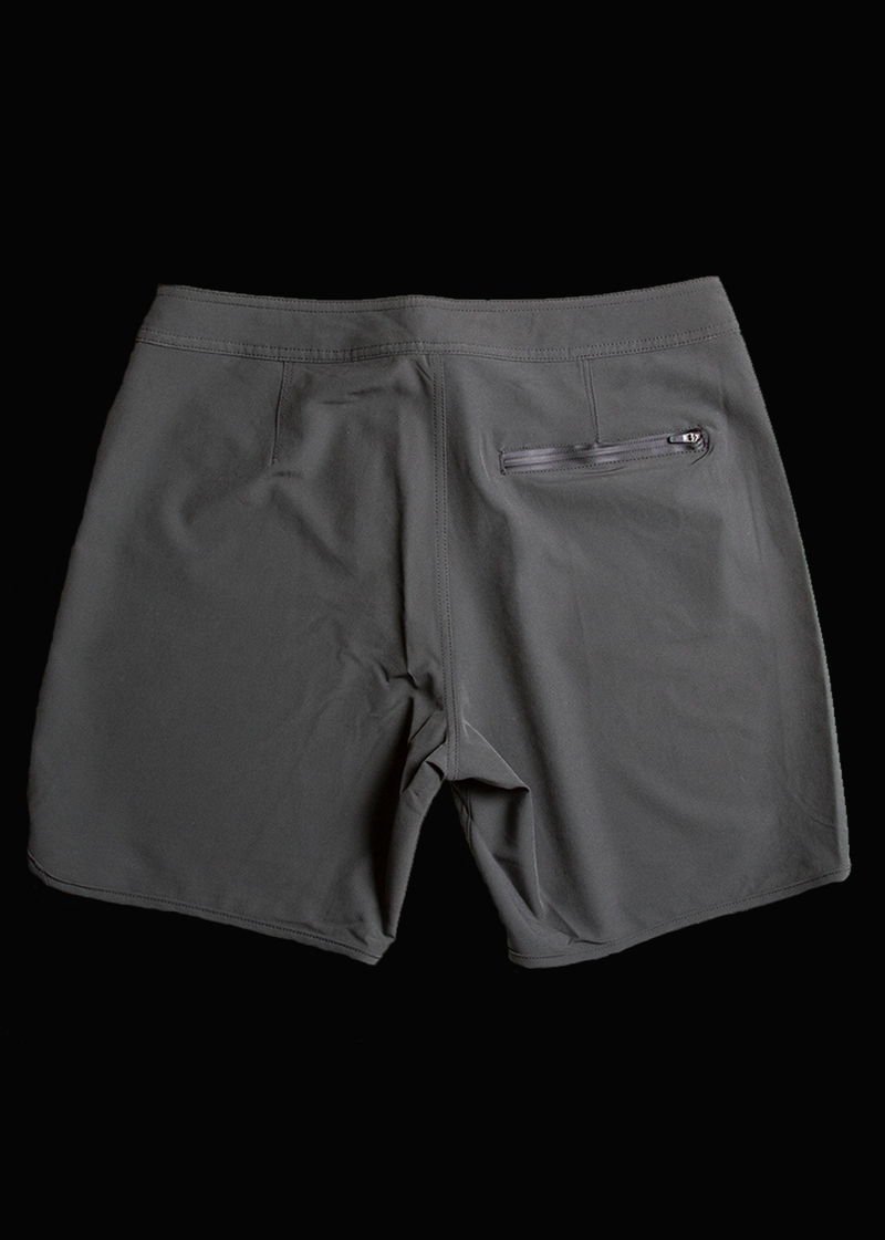 "17"" Grey Scallop Leg Boardshorts"