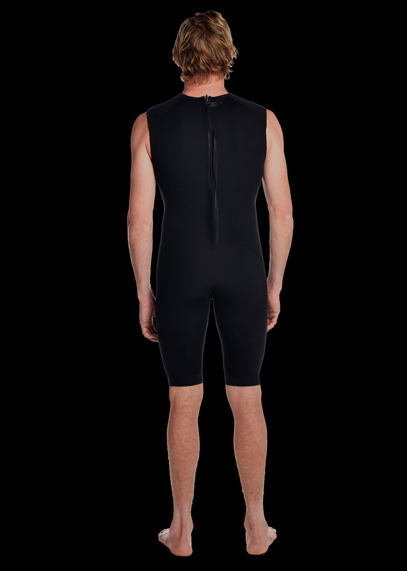 Mens 2mm Premium Essential Short John Spring Wetsuit
