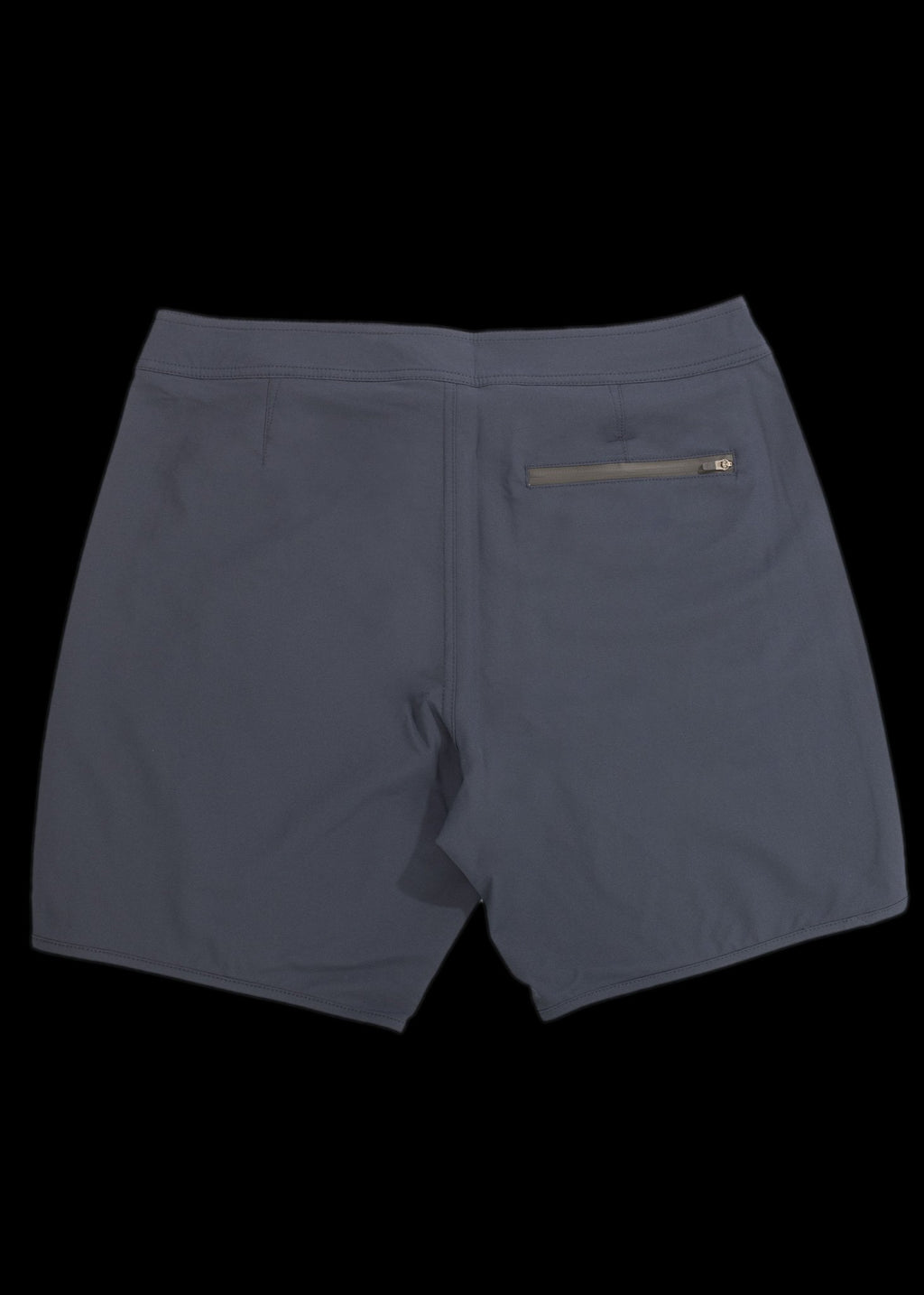 needessentials navy premium scallop boardshorts
