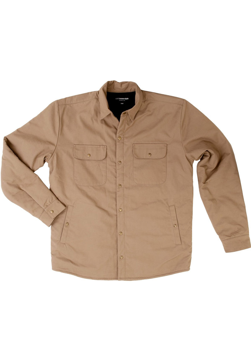 needessentials Organic Cotton Wool Insulated Jacket Tan