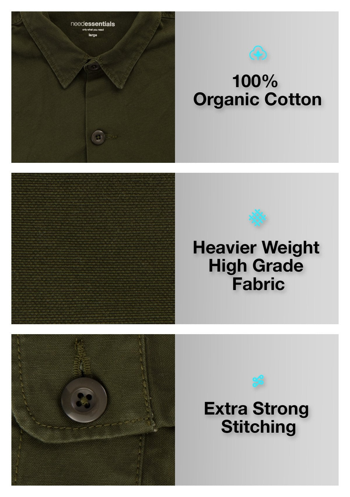 Organic Cotton Heavy Weight Shirt - Headland Green