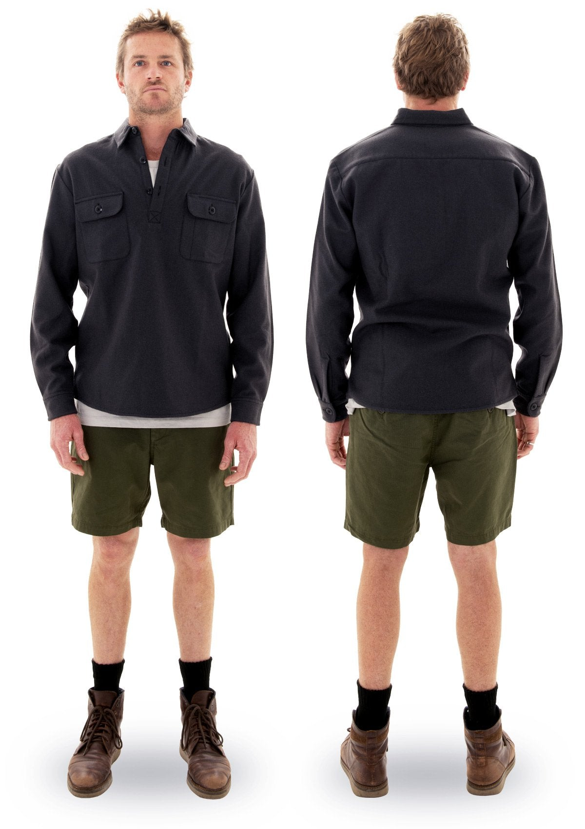 needessentials organic cotton walkshort olive laurie towner