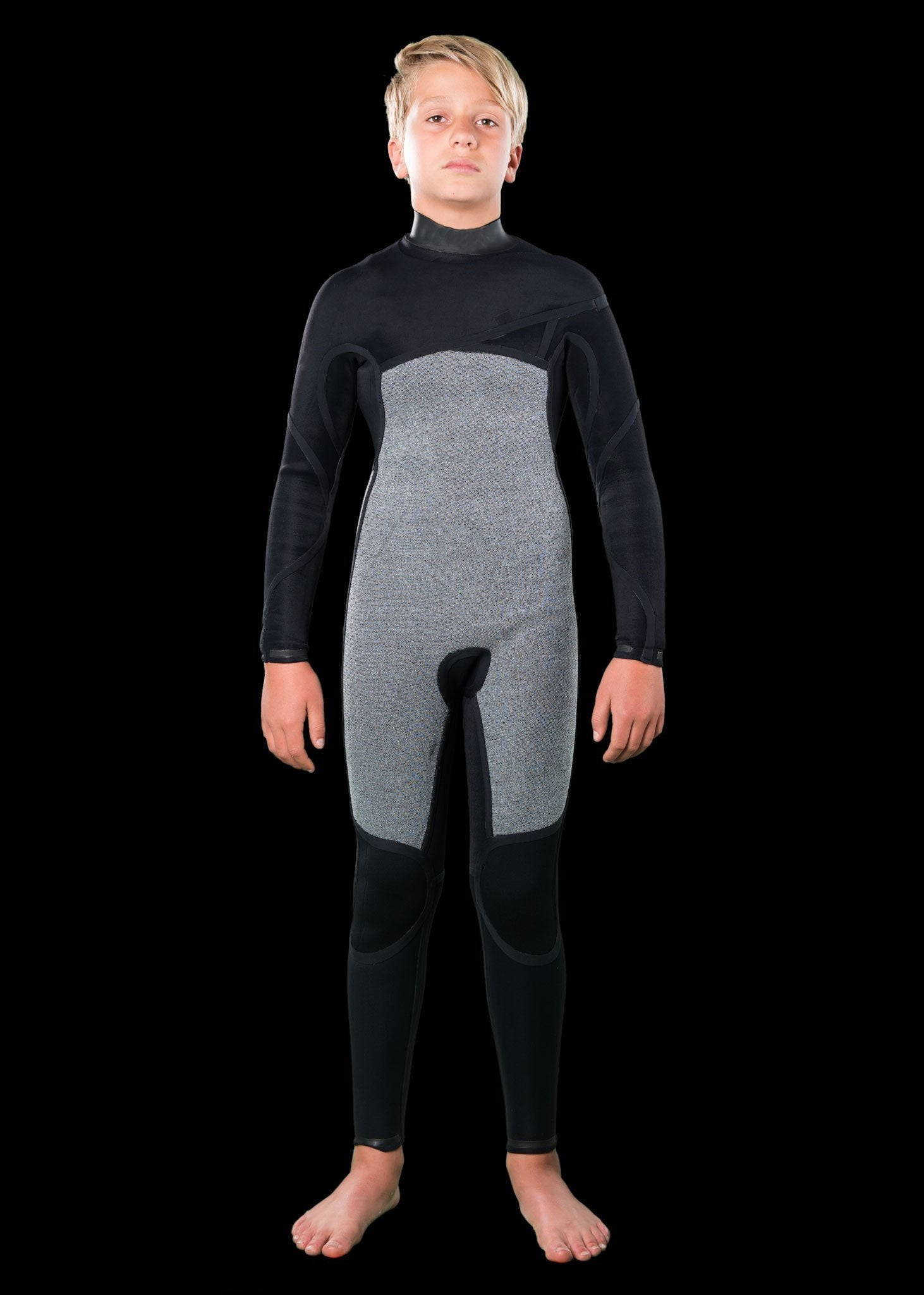 Kids 3/2 Fast Dry Chest Zip Wetsuit