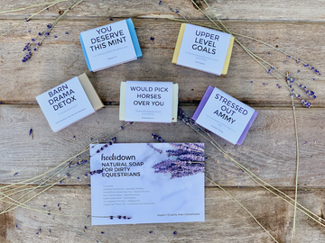 Natural Soap For Dirty Equestrians by heelsdown media