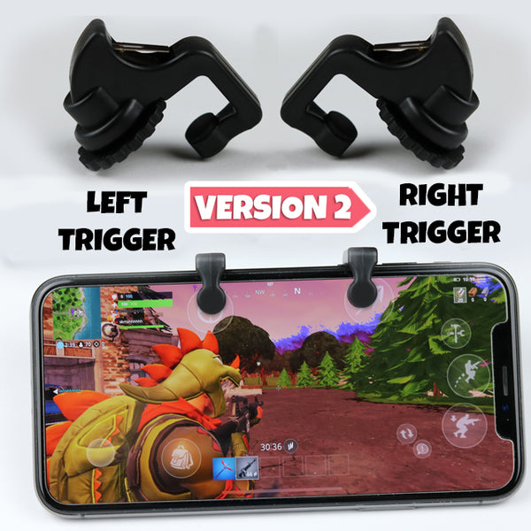 Mobile Gaming CLAW Triggers V2 - Fortnite Mobile Controller Trigger, PUBG Mobile Trigger, and Call of Duty Mobile Trigger - matif-llc