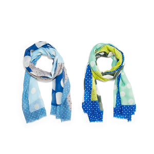 DOTTED SCARF WITH FRINGE DETAIL