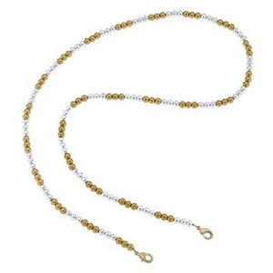 Stretchy Gold & Silver Ball Bead Mask Holder Necklace