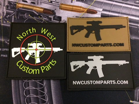 NWCP 3D PVC Velcro Back Patches