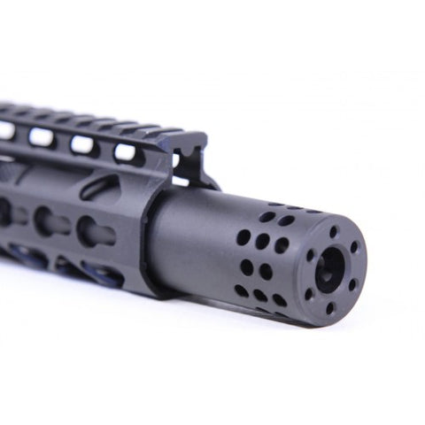 Guntec - AR-15 SLIP OVER BARREL SHROUD WITH MUZZLE COMP