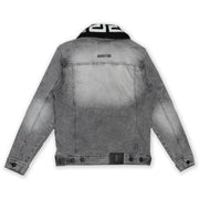 M1062 MAKOBI DENIM JACKET W/ SHERPA COLLAR - GREY