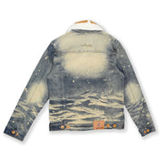 M1062 MAKOBI DENIM JACKET W/ SHERPA COLLAR - VINTAGE WASH