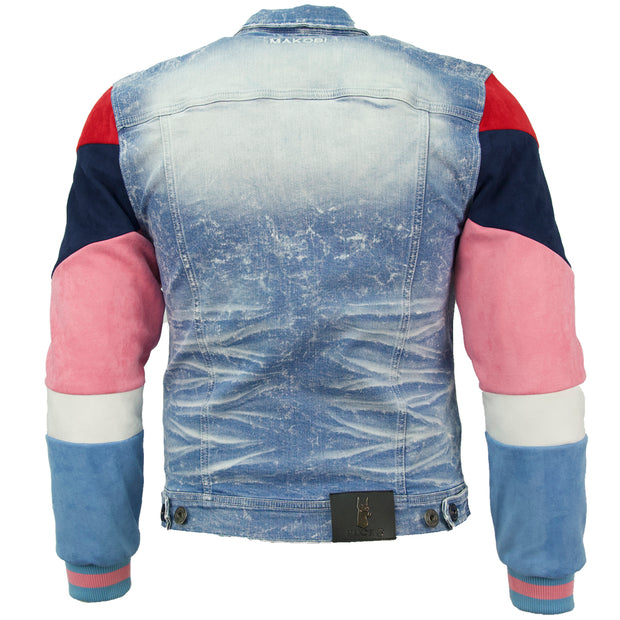 M1010 Makobi Ultra Suede Denim Jacket - Light Wash