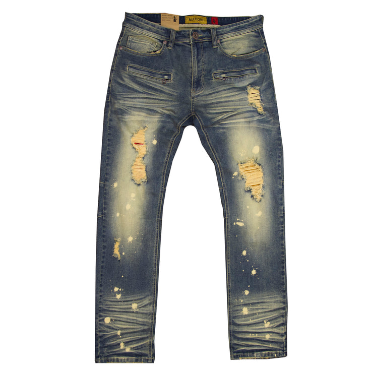 "M1910 Makobi ""Sanibel"" Shredded Jean with Suede - Vintage"