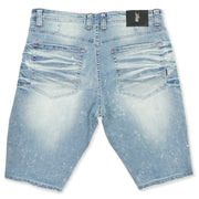 M709 Malaquite Biker Shredded Jeans - Light Wash
