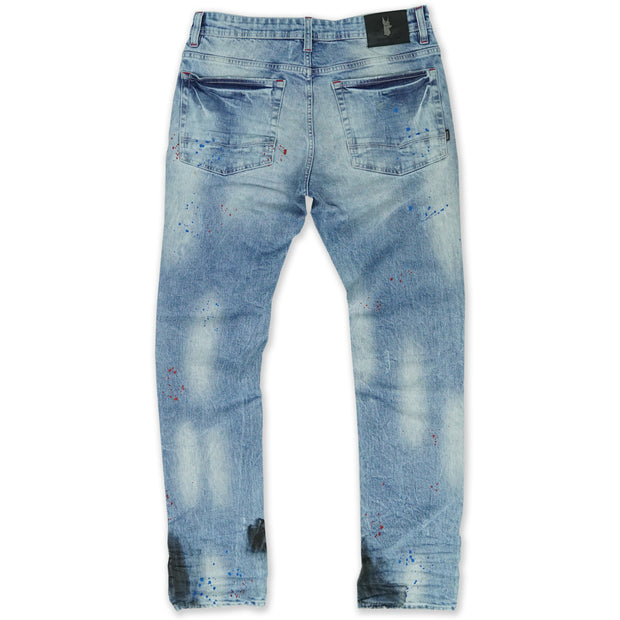 M1920 Zuma Shredded Jeans - Light Wash