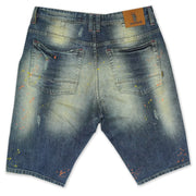 M920 Stinson Shredded Shorts w/Paint Splash - Dirt