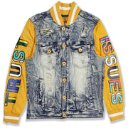 M1050 Makobi Trust Issues Denim Jacket - Dirt